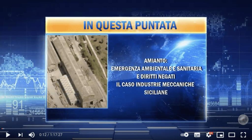 ONA TV: Amianto emergenza ambientale sanitaria
